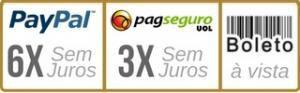 Escolha o PayPal e parcele em até 6x Sem Juros