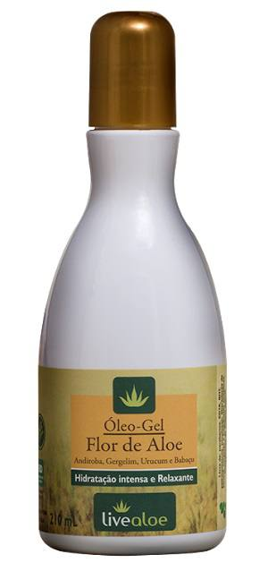 Óleo Gel Flor de Aloe - Andiroba, Gergelim, Urucum e Babaçu 100% Natural
