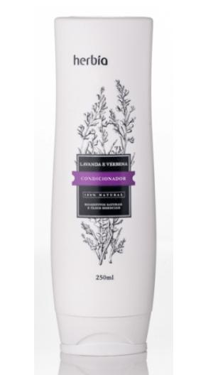 Condicionador Orgânico Herbia Lavanda & Verbena Branca Herbia 250 ml - Nova Fórmula