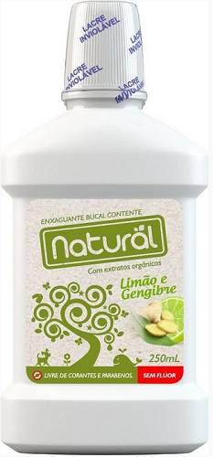 Enxaguante Bucal Natural Limão e Gengibre 250ml