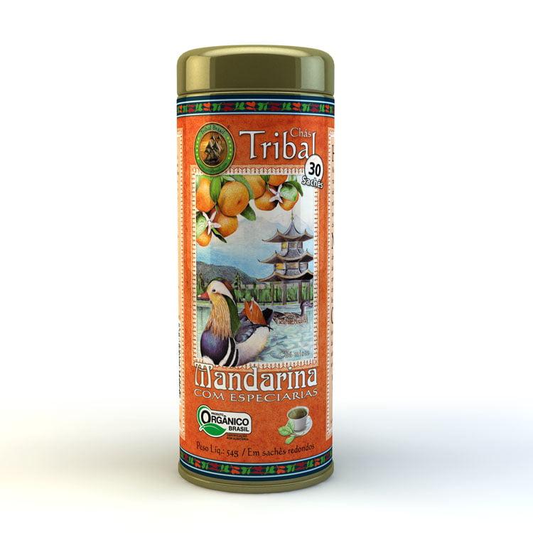 Chá Misto Orgânico Mandarina com Especiarias - Lata 54g - Tribal Brasil