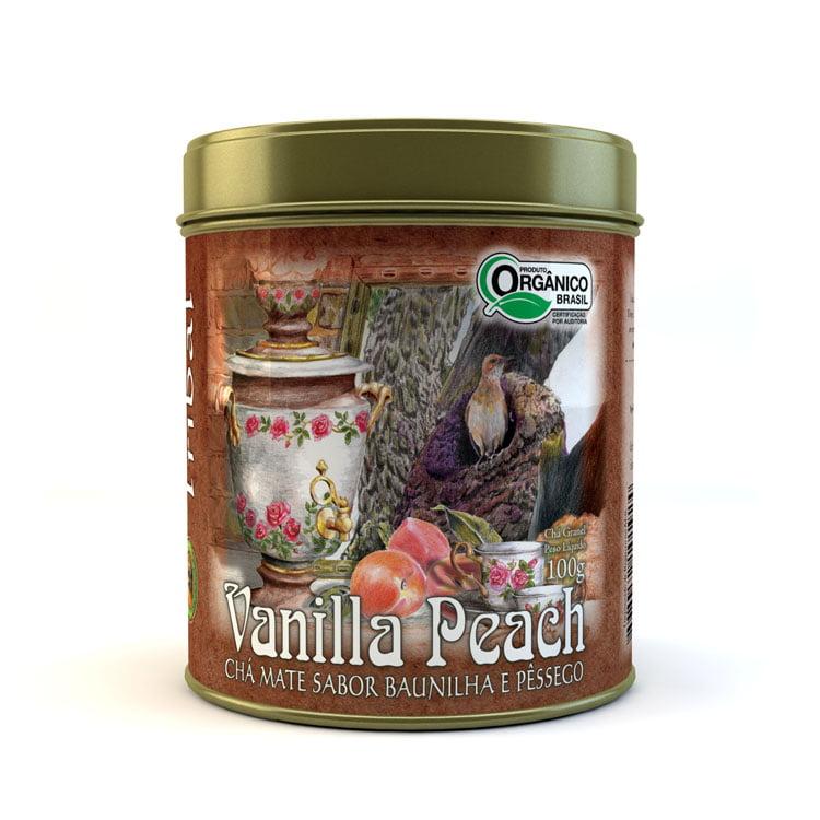 Chá Misto Orgânico Vanilla Peach - Mate, Baunilha e Pêssego - Lata 100g Tribal Brasil