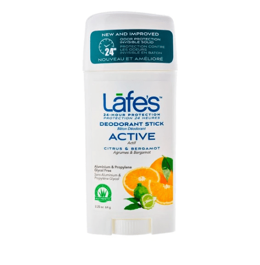 Desodorante Natural Twist Active LAFE'S Limão e Bergamota 64g