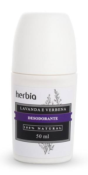 Desodorante Rollon Natural e Orgânico Lavanda e Verbena
