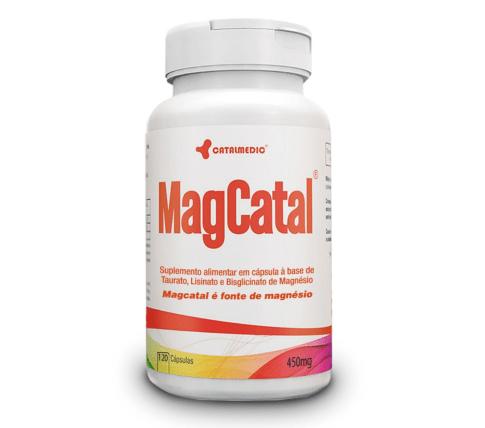 MagCatal - Taurato, Lisinato e Bisglicinato de Magnésio 120 Cápsulas