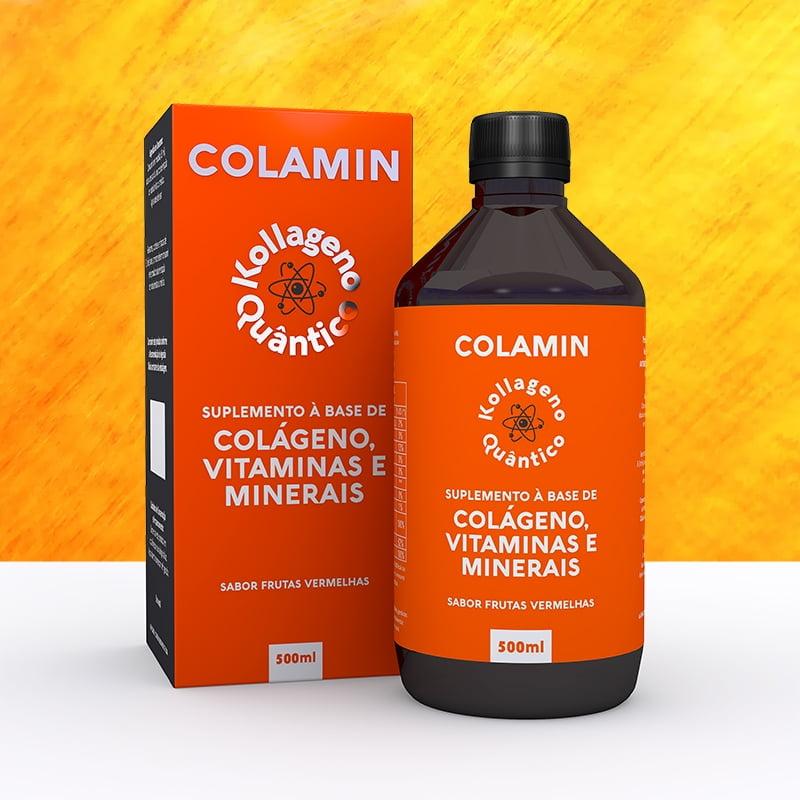 Suplemento Colágeno Quântico, Vitaminas e Minerais COLAMIN - 500ML