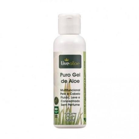 Puro Gel de Aloe 60ml - Aloe Vera Orgânica - Babosa -