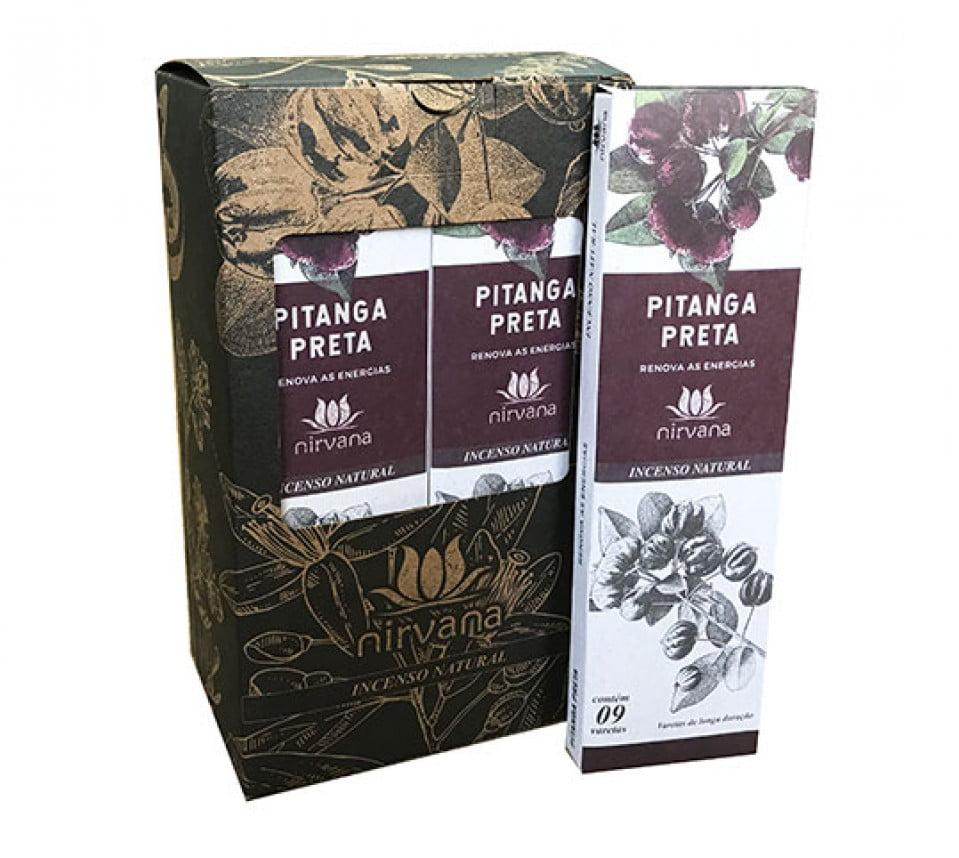 Incenso Natural Nirvana Pitanga Preta 9 varetas