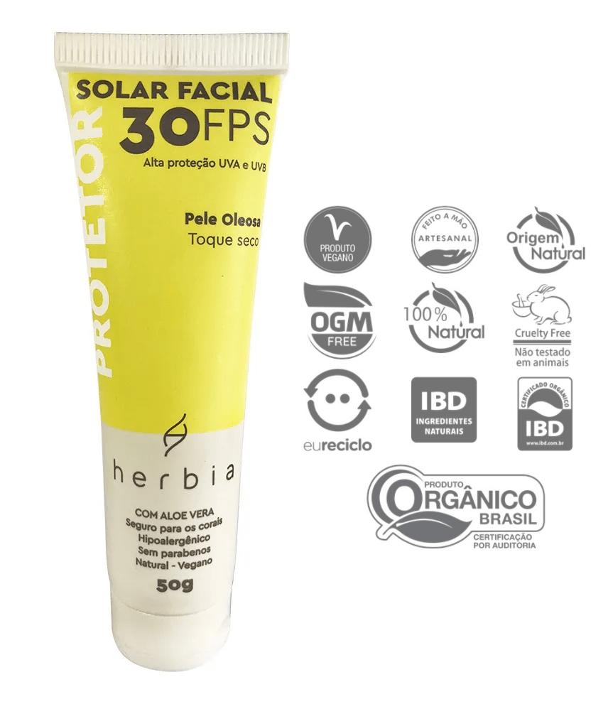 Protetor Solar Natural Pele Oleosa 50g