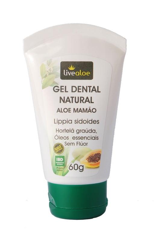 Gel Dental Natural, Orgânico e Vegan Aloe Vera e Mamão 60g