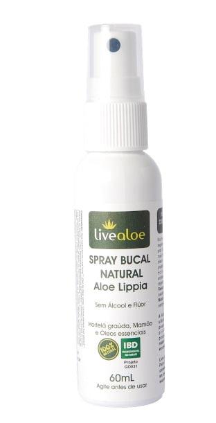 Spray Bucal Natural, Orgânico e Vegano Aloe e Lippia 60ml