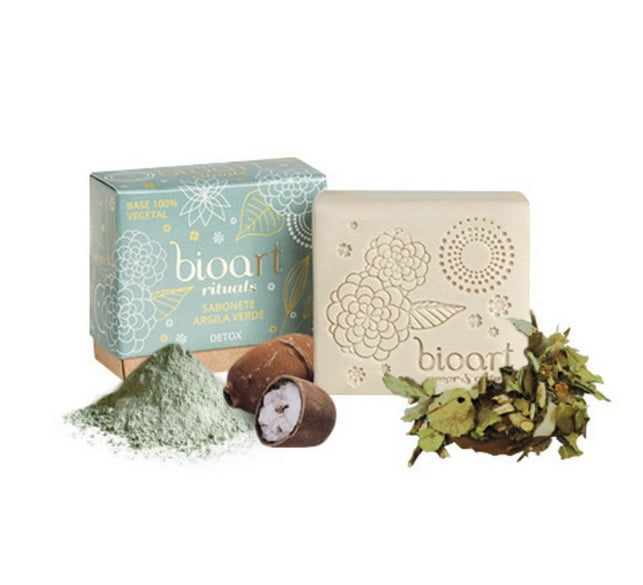 Barra de Tratamento Detox (Argila verde + Chá verde) Bioart 100g