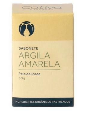 Sabonete Argila Amarela - Pele delicada 60g