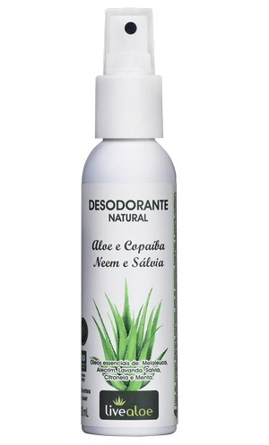Desodorante Natural Spray Aloe, Copaíba, Neem e Sálvia 120ml