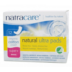 Absorvente Orgânico Natracare Super Plus Ultra Pads com 12 un