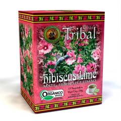 Chá Misto Orgânico Hibiscus Lime - Hibiscus, Erva Mate e Limão - Caixa 30g - Tribal-Brasil