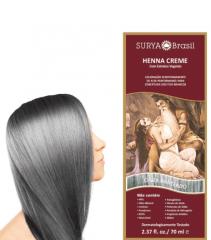 Coloração Natural Henna Creme Cinza Prateado 70ml