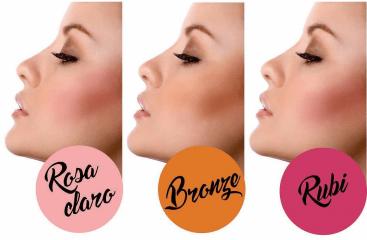 Blush Rosa Claro - 1 Rosa Claro Vymana Make Up 10g