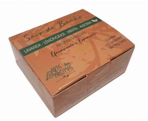 Sais de Banho Lemongrass, Menta, Alecrim  com argila verde 12 tabletes