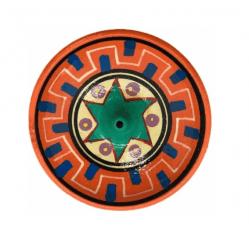 Incensário Cerâmica Marrom desenhos peruanos