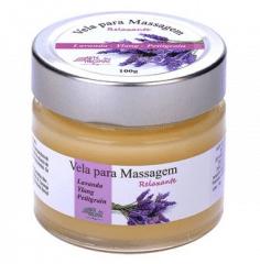 Vela para Massagem Relaxante Lavanda, Ylang Ylang e Petitgrain 100g
