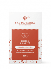 Shampoo Sólido Henna & Karité 100g
