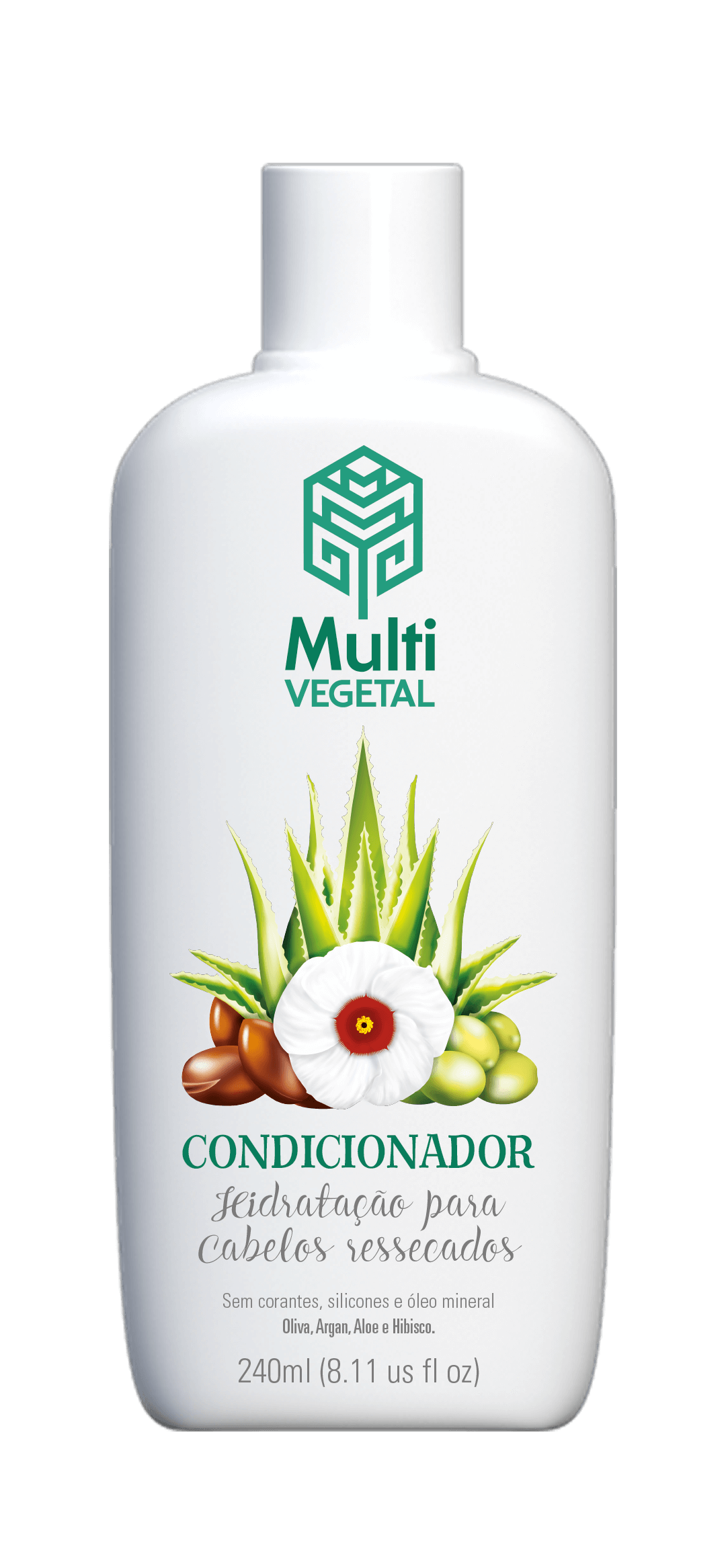 Condicionador de Oliva com Argan, Aloe e Hibisco 240ml