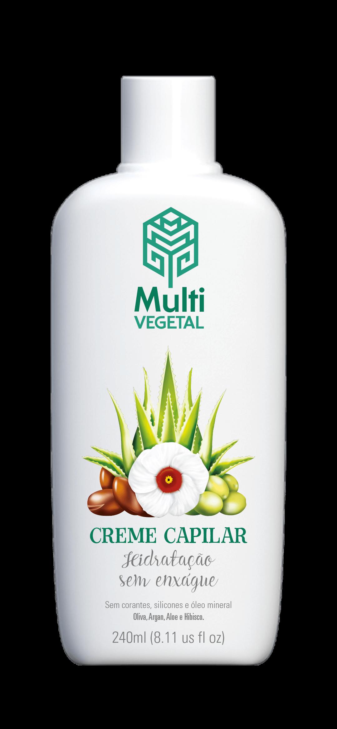 Creme Capilar de Oliva com Argan, Aloe e Hibisco 240ml