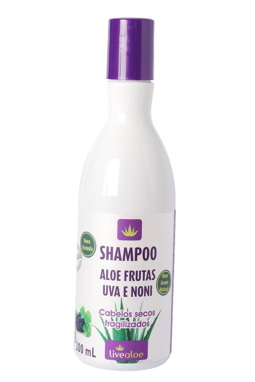 Shampoo Aloe Frutas - Noni e Uva 300ml